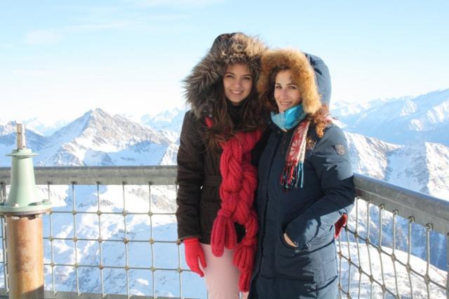 Com Grazia no Monte Bianco.