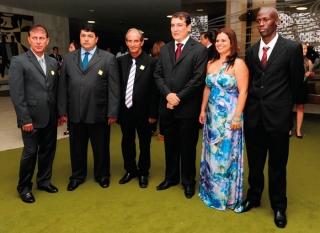 Vereadores que foram prestigiar Renato Andrade em sua posse para Deputado Federal em Brasília, no dia 03 de janeiro de 2013.