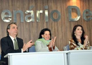 Marco Túlio Costa, Maria Antonieta Antunes Cunha (Escritora e Diretora da Fundação Biblioteca Nacional), Samira Visconde (Diretora de Cultura).