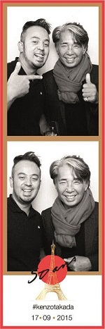 Com Kenzo na festa de comemoração dos seus 50 anos em Paris.