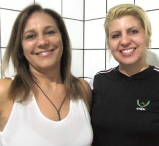 Jessica com Samantha Mezêncio Cunha Alexandre na CQV