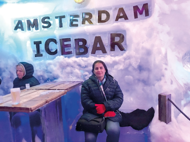 Larissa Lima no Bar de Gelo.