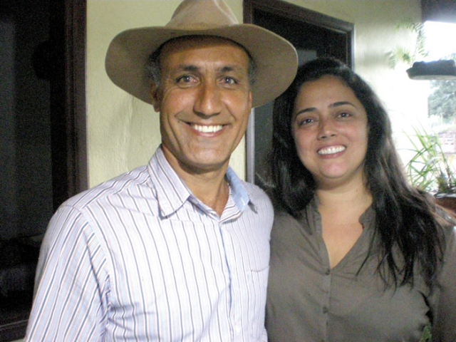 Os produtores rurais Alessandro Lemos de Faria e Daniele Maia Piassi de Faria.