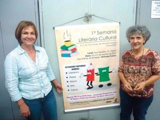 Deucélia Maciel, Marise Pacheco e a I Semana de Literatura e Cultura.