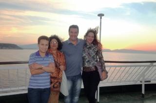 Os quatro amigos: Rita Lúcia Vieira Natir, Terezinha, Marcos Esper e Karina Oliveira Sanches.