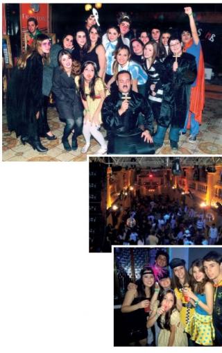 Uma das noites mais esperadas - Festa a Fantasia em uma das grandes Danceterias.