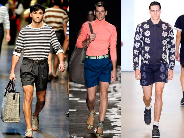 Shorts mais curtos - Calvin Klein (Foto 3); Alexandre Herchcovitch (Foto 2);  Dolce & Gabanna (Foto 1).