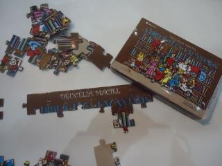 Quebra-cabeça que acompanha o livro A BIBLIOTECA ENCANTADA, UMA NOVIDADE EDITORIAL, lançada pela escritora Deucélia Maciel.