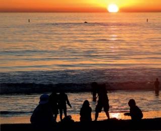 Pôr do sol mais bonito que já vi - Santa Mônica.