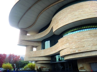 Museu do �ndio Americano - arquitetos indígenas se inspiraram nos Canyons.
