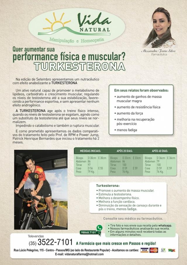 Quer aumentar sua performance física e muscular? Turkesterona