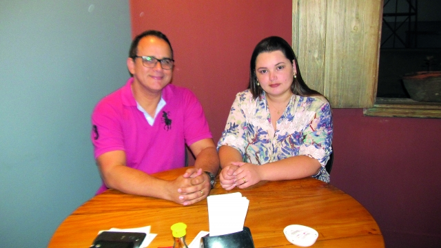 Janildo Carneiro e Letícia Brasil