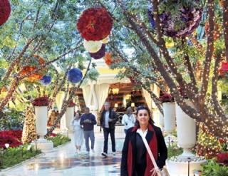 Decoração de Natal do Hotel Wynn.