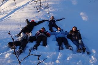 Turistas brasileiros curtindo a neve, como sempre um espetáculo a parte. O termômetro chegou a registrar - 25º C.
