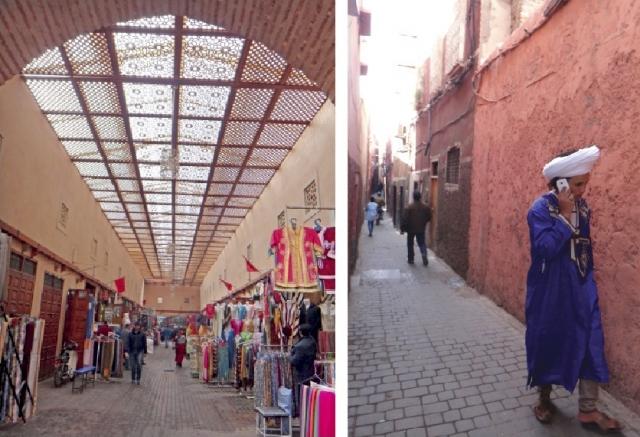 Cenas de ruas da Medina de Marrakesh.
