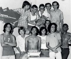 Barreto com a Turma da UPES-1972.