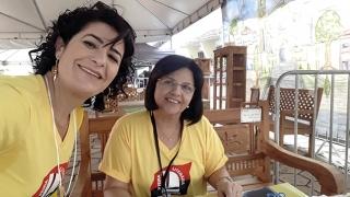 Samyra Hipolita Vieira Marques Viscondi - Assessora Adm. da Cultura  e Maria Augusta Gonçalves Oliveira - Assessora Adm. da Educação.