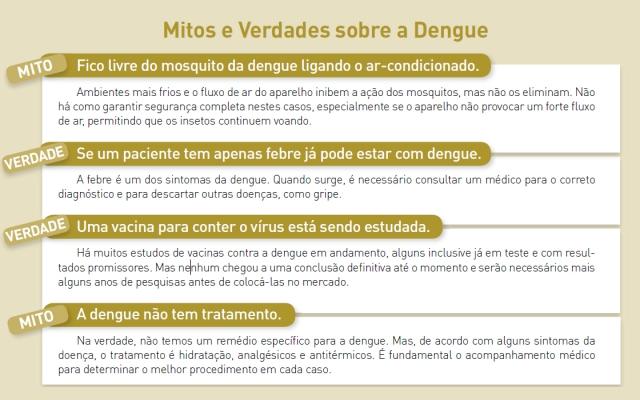 Mitos e Verdades sobre a Dengue.