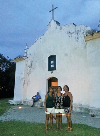 As irmãs Maria Cristina Maysa e Edith.