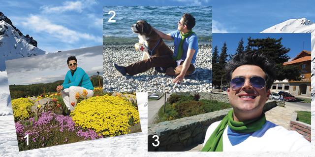 1 - Flores Típicas. 2 - São Bernardo - Cão Tradicional de Bariloche. 3 - Tarcísio Lopes.
