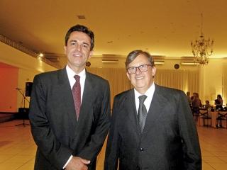 Presidente da Irmandade Fabian Silveira Lemos e o Provedor Vivaldo Soares Neto