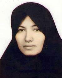 Sakineh Ahstiani, condenada à morte por apedrejamento pelo crime de adultério.