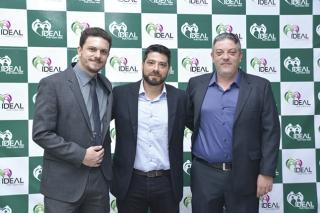 Diretores da Rede IDEAL - Pedro Rosa, Leonardo Rosa Sanches e Guilherme Rosa Sanches.