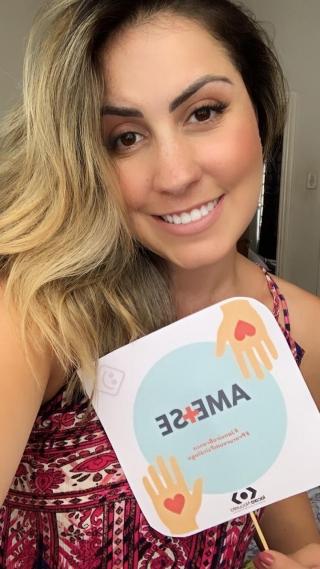 Duda Salermo, blogueira convidada para a campanha.