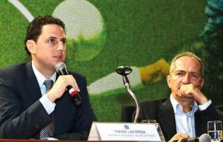 Tiago Lacerda e o Ministro do Esporte Aldo Rebelo.
