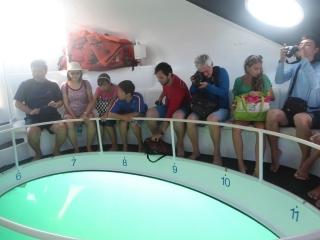 A nave tem uma espécia de relógio para as pessoas identificarem o lugar onde veem as novidades.