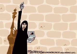 O celular e a internet foram as armas dos rebeldes na Primavera �rabe.
