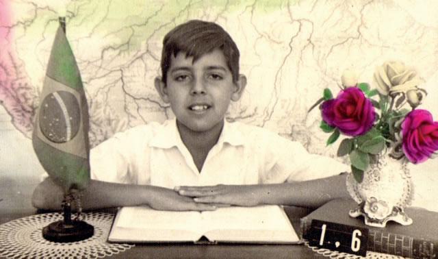 Antonio Barreto, estudante, aos 9 anos, no Educandário.