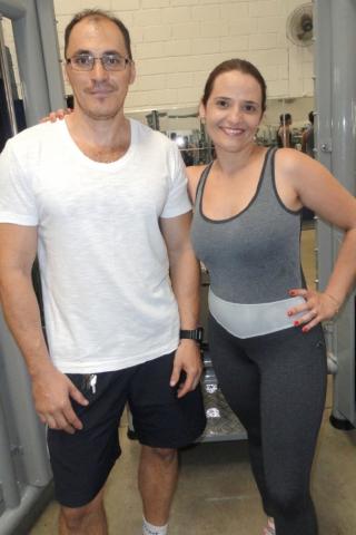Bianca com o personal Edilson Sebastião Ferreira