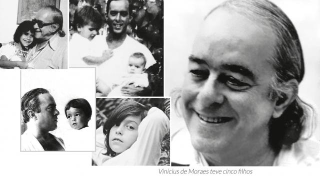 Vinicius de Moraes teve cinco filhos.