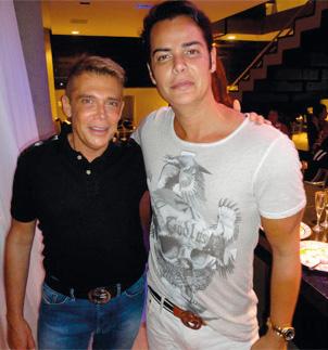 Os amigos Léo Shehtman e Erik Pinto Orlandi