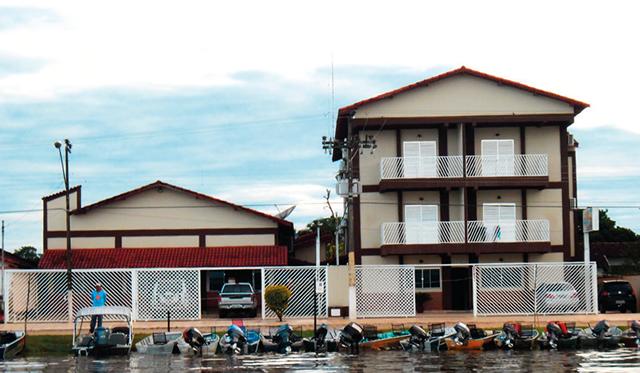 Hotel em que Pedro, Hilton e Rodrigo se hospedaram, às margens do Araguaia.