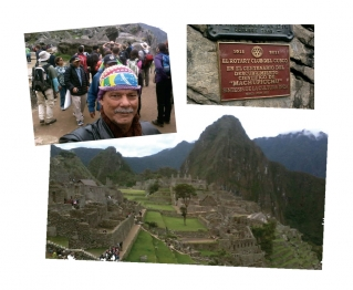 """Placa do Rotary Clube de Cusco em homenagem ao centenário de Machu Picchu, comemorados em 2011. / As belezas de Machu Picchu, """" A Cidade Perdida�: patrimônio mundial da Unesco."""
