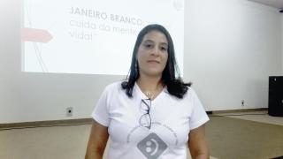 Kelly Ramos Santos, psicóloga e palestrante do evento realizado pela Associação dos Psicólogos.