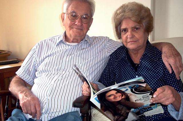 O casal Sálvio Lemos de Vasconcelos e Terezinha enviam a revista mensalmente para uma amiga, que reside em São Paulo.