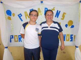 Jonathan Braian Dias Vaz e Sandra Batista.
