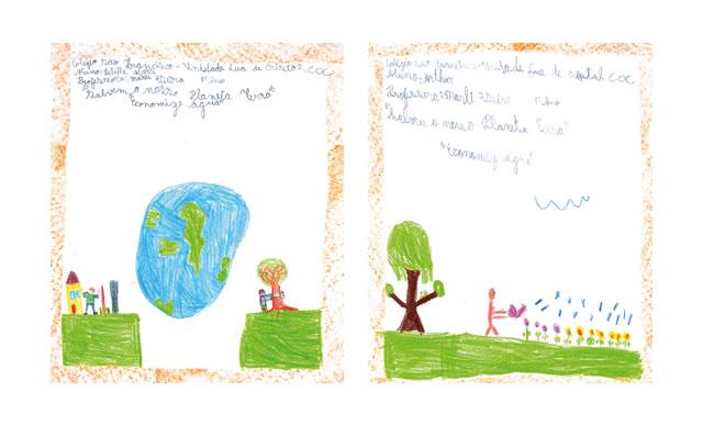 """Ilustração 1: """"Salvem o nosso planeta Terra, economize ÃÂ¡guaâ€ÂÂÂÂÂ� Aluno: Felipe Alves Professora: Marli Vieira Colégio São Francisco - Unidade Lua de Cristal - COC Ilustração 2: """"Salvem o nosso planeta Terra, economize ÃÂ¡guaâ€ÂÂÂÂÂ� Aluno: Arthur Professora: Marli Vieira Colégio São Francisco - Unidade Lua de Cristal - COC"""