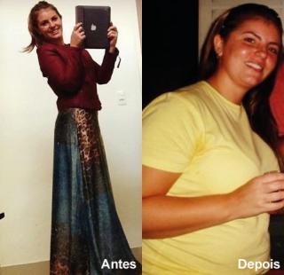 Antes e depois.