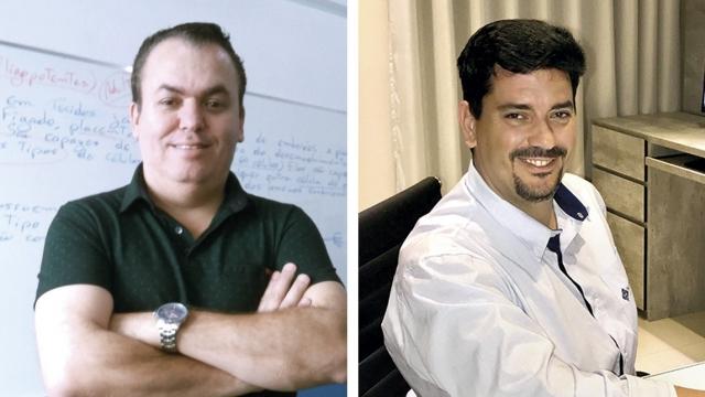 Clóvis Damião Professor de redação e história e Murilo de Pádua Andrade Filho Ex-professor de geografia e ex-candidato a vice-prefeito de Passos.