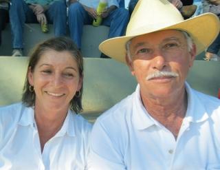 Délio Naves Barbosa e sua esposa, do Haras Círculo D, de Boa Esperança. Criador há quase 40 anos.