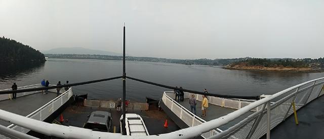 Ferry boat para Nanaimo.