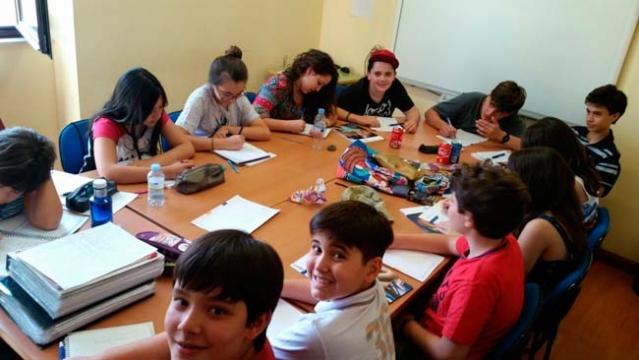 Aulas na escola de idioma Enforex