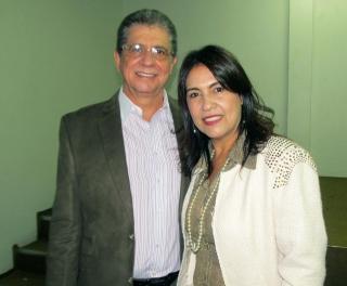 Décio Cançado e sua esposa e companheira de todas as horas, Júlia Cançado.