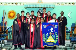 Integrantes do Capítulo Jovens Unidos DeMolays de Passos.