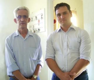 O presidente da Associação, Gladston Geraldo Bastos, e o consultor logístico da entidade Jorge Montez.