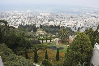 Vista parcial do Jardim de Getsêmani, no Monte das Oliveiras.